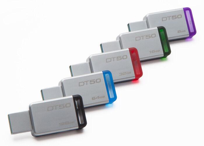 Kingston 128GB 64GB 32GB 16GB 8GB DT 50 Flash USB 3.0 3.1 Dr