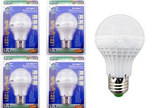 X4 25 WATT Replacement LED Light bulbs Consumption of Approx 3 Watts
