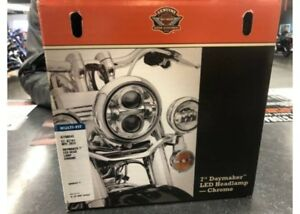 "NEW - HD OEM 7"" Daymaker LED Headlamp, Chrome, 67700243 - ID1664"