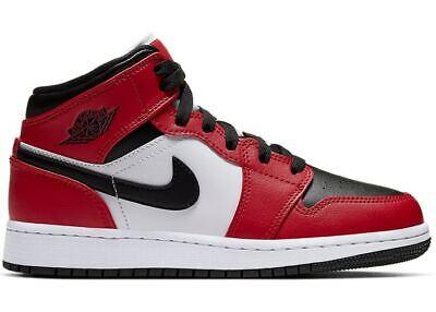 Nike Air Jordan 1 Mid Chicago Black Toe (GS) UK 5 UK 5.5 UK 6 Next Day Delivery