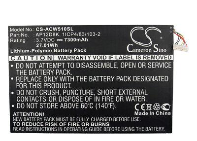 1ICP4/83/103-2 Battery for Acer Iconia Tab W510  /P3-171 /A3-A10 /W510P /A3  NEW