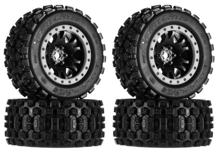 Pro-Line 10131-13 Badlands MX43 Pro-Loc Mounted Tires / Wheels (4) X-Maxx XMAXX