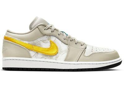 Nike Air Jordan 1 Low SE Palm Tree.Mens Trainers White & Yellow - US 12