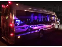 16 Seater Karaoke Party Limo Bus for hire, Karaoke Machine, Bluetooth music system 07976 703705