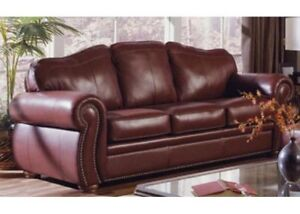 All-leather Palisser Sofa and Love Seat; Best Quality ...