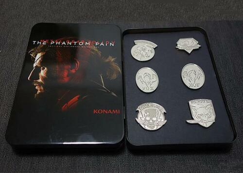 Metal Gear Solid V 5 The Phantom Pain 6 Badges Brooch Limited Edition With Box