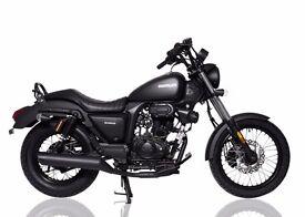 SINNIS 125cc HOODLUM CRUISER MOTORCYCLE BRAND NEW IN STOCK - LEARNER LEGAL