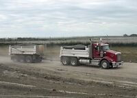 LOOKING for gravel truck driver