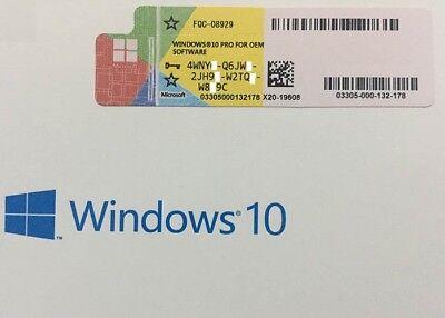 Scrap PC/Laptop with OEM Windows 10 Pro Professional 32 64bit License Sticker