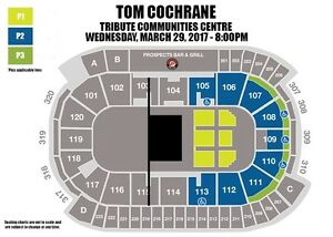 MUST SELL - TOM COCHRANE FLOOR SEATS FOR COST!!