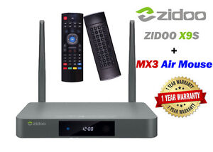 Zidoo X9S Android TV Box télé Kodi Streaming + MX3