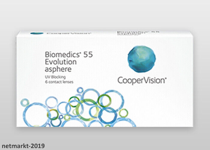 CooperVision Kontaktlinsen Biomedics 55 Evolution UV 1 x 6 Stück Monatslinsen