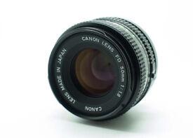 Canon Lens FD 50mm 1.8