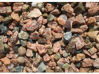 Wanted big load of pink pebbles delivered