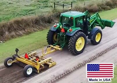 8 Ft Grader Drag - 3 Point Hitch - Cat 2 Or 3 - 60 To 70 Hp Req - Rear Magnet