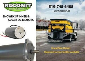 Auger and Spinner Motors for Snowplow Equipments