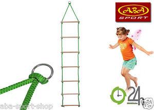 ABA Strickleiter Hängeleiter Kletterseil Seilleiter Seil Kinder HÄNGELEITER