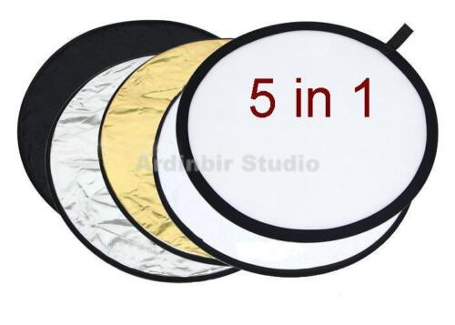"""43"""" 5 in 1 Studio Collapsible Photo Light Reflector Kit"""