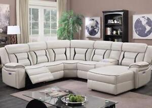 Black Friday Sale!! Is ON now  Brand New Power Recliner Sectional Chaise With LED Lights & USB Port $2499