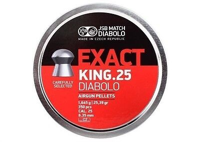 Jsb Match Diabolo Exact King  25 Cal 25 39 Grains Domed 1050 Count  3 Tins