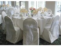 50 White Organza Sashes only used once
