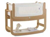 SnuzPod2 Bedside Crib 3 in 1 Natural