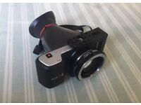 Blackmagic Pocket Cinema Camera, Metabones EF to BMPCC Speedbooster, viewfinder, cage, batteries etc