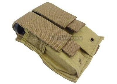 NcSTAR TAN Double MOLLE PALS Dual Pistol Magazine Pouch Holster M9 1911 9mm 45