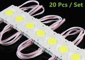 20 Pcs x 12V Super Bright LED Single Module Light 2.4W Waterproof Under Cabinet Backlight Source