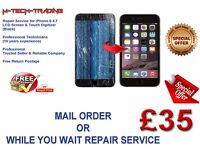 iPhone 6 4.7 BLACK/WHITE Full LCD TOUCH SCREEN Repair Fix Service