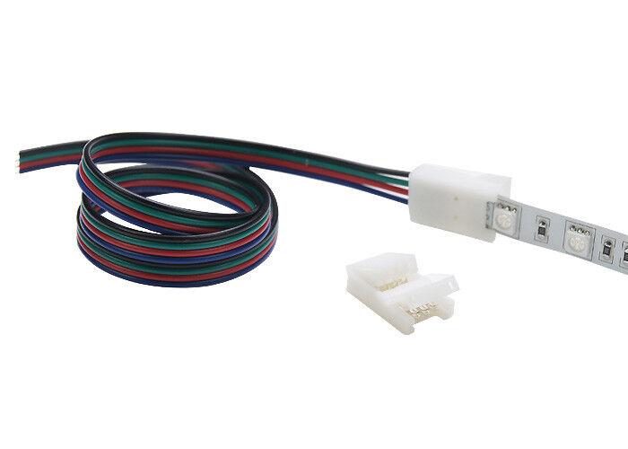 NEUHEIT - Clip auf Kabel Verbinder RGB Led Strip Streifen 10mm 4PIN Stripe