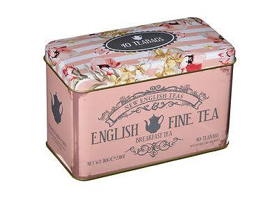 Vintage Style Retro Tea Caddy - Pink Chintzy Vintage Kitchen