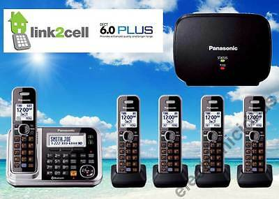 PANASONIC KX-TG7875S DECT6.0 LINK2CELL BLUETOOTH 5 CORDLESS PHONES + 1 REPEATER