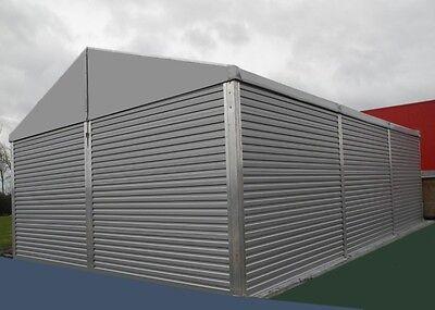 Leichtbauhalle 10x10x4 m Industriezelt Lagerzelt Lagerhalle Aluhalle Zelthalle