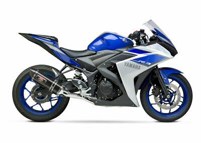Ss Full Exhaust - YOSHIMURA R-77 Race Full Exhaust System (SS/CF/CF) 2015 Yamaha YZF-R3