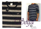 Hollister Long Sleeve Striped T-Shirts for Men