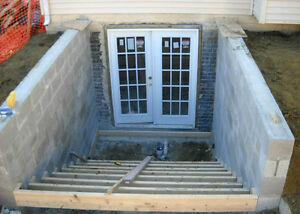 Cost of adding a walk up stairs to a basement for Adding exterior basement entry