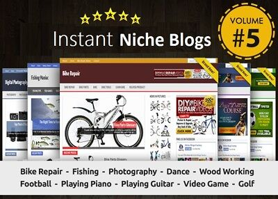 Instant Niche Plr Wordpress Blogs Package - Volume5 - Ready To Business Adsense