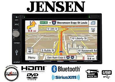 """Jensen VX7022 Navigation DVD Receiver w/ 6.2"""" Touchscreen and Bluetooth"""