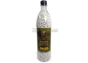 5000 Airsoft Elite Force White Ultra Slick Bottle 0.2g .20g .2g 0.20g 6mm BB BBs