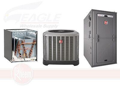 Rheem 80% 125,000 BTU Single Stage Gas Furnace + 5 Ton 15.1 SEER A/C System