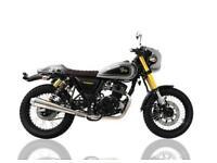 SINNIS BOMBER 125cc MOTORBIKE, BRAND NEW, FREE REG FEE, 24 MONTHS WARRANTY