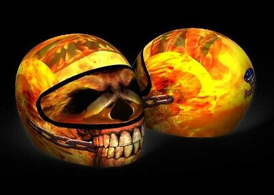 Skullskins Streetskin Motorcycle Helmet Protector Cover |  A Skin On Fire (Yell)