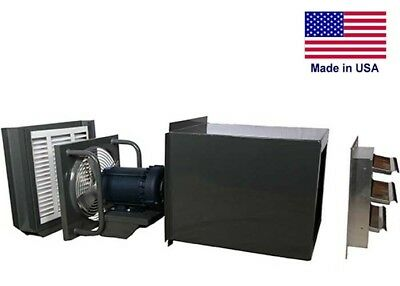 12 Filtered Exhaust Fan - 520 Cfm - 115230 V - 14 Hp - Direct Explosion Proof