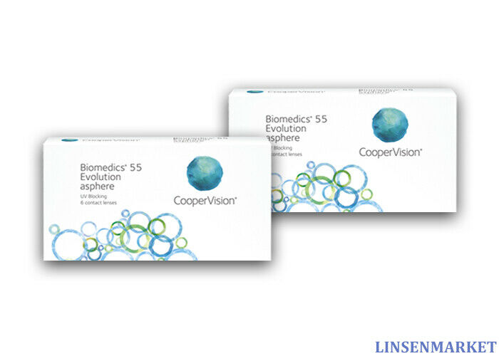 Biomedics 55 Evolution UV CooperVision 2x6 Kontaktlinsen