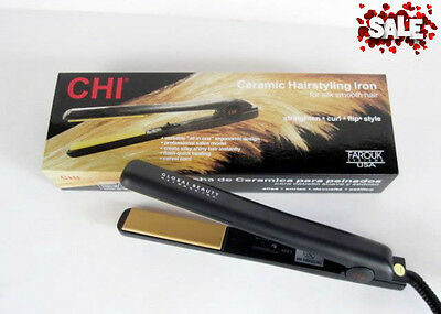 "CHI PRO 1"" Ceramic Firm Iron Hair Straightener Professional Iron Black NEW"