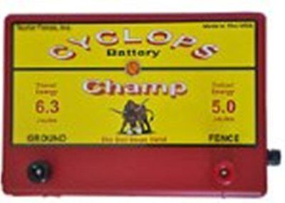 Cyclops Champ Battery Powered 5 Joule 12volt Electric Fence Charger Energizer