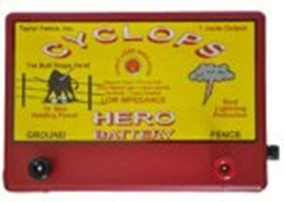 Cyclops Hero Battery Powered 15 Acre 12 Volt Electric Fence Charger Energizer