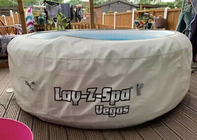 **L👀k**Lay Z Spa Vegas 4-6 Person Inflatable Hot Tub Jacuzzi Lazy Spa*USED*