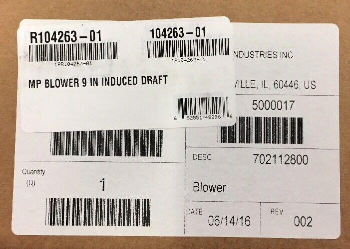 LENNOX/MAGIC-PAK INDUCED DRAFT BLOWER R104263-01